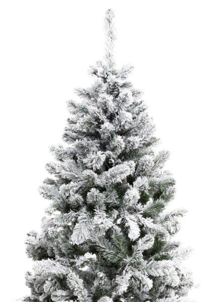 Bovenkant besneeuwde kunstkerstboom