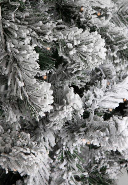 Flock kerstboomtakken