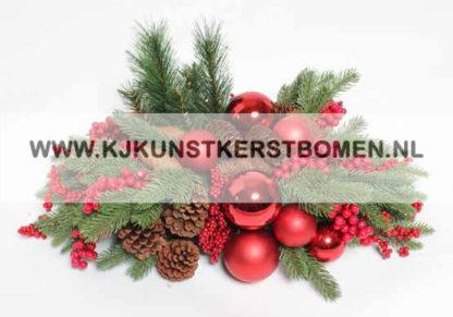 KJ Kunstkerstbomen rood kerststuk