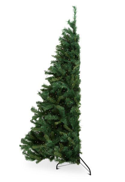 Halve kerstboom tijdelijke foto
