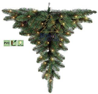 Plafond kerstboom met verlichting 90 cm
