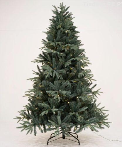 Tisdale blauwspar kerstboom met verlichting